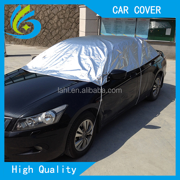 car roof uv reflection protection aluminum waterproof half car cover