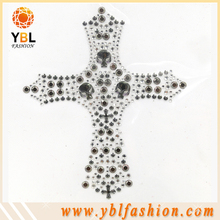 Hotfix studs motif skull nailhead cross design for t-shirt decorative
