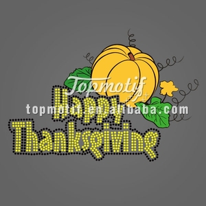 Happy Halloween holiday hot fix rhinestone t shirts custom wholesale