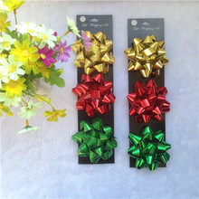 Christmas occasions decorative card making pp metallic ribbon bow