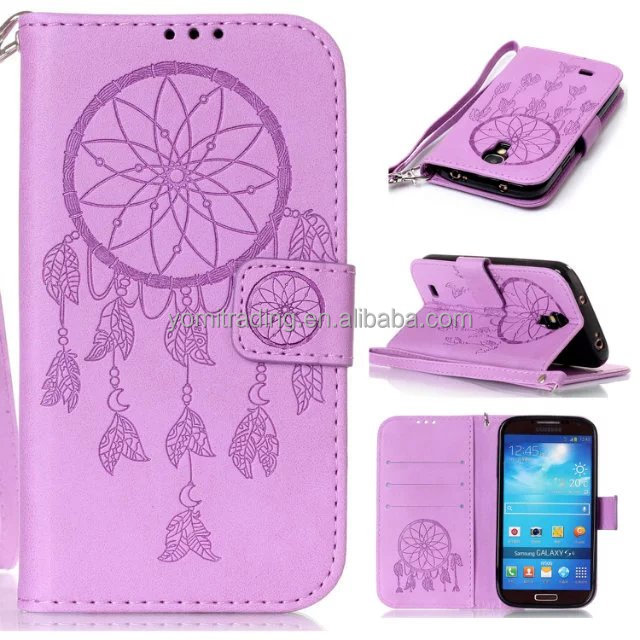 Factory OEM Customized Designs Case For Samsung S4 mini Flip Wallet Leather Case