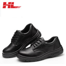 Protective Working High Ankle Shock Absorber Heel fashion black Safety Shoes For Workers
