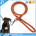 Round Soft Leather Dog retractable dog leash