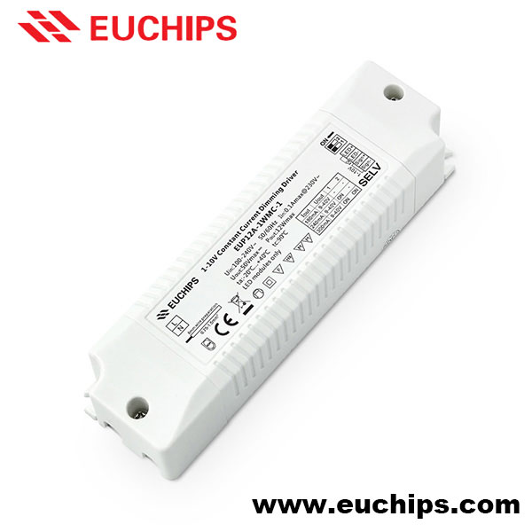 12W Constant Current Multi Output Selectable by DIP Switches LED 1-10V Dimmer Driver 280mA 350mA 500mA LED Dimming Controller
