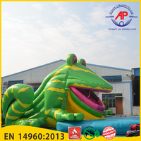 Airpark Giant Frog Cartoon Inflatable Water Slide for Kids
