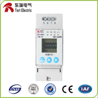 Digital Meter REM101 Single Phase Energy Meter, RS485 Modbus Energy Meter, Din Rail kWh Energy Mete