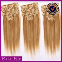Supreme noble smooth crochet 613 blonde hair weave 100% brazilian hair clip-on hair extension