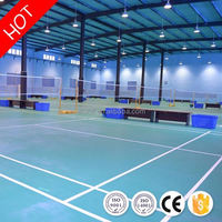 Fireproof antistatic 4.5mm international standard badminton court flooring from china