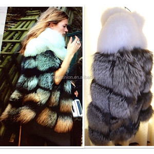 Wholesale Luxurious Fashion Winter Red Fox Fur Coat for Young Sex Girls