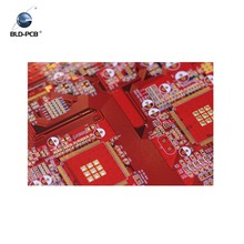 4 Layers High Quality Rigid-Flex PCB, Gold Finger With Red Soldermask