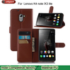 COW SKIN TEXTURE Soft Wallet Case Stand PU Leather Case For LENOVO K4 NOTE3 A7010 X3 LITE LEATHER CASE