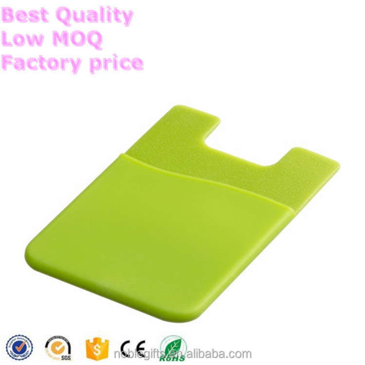 Small MOQ eco-friendly silicone card holder,Customize smart phone case
