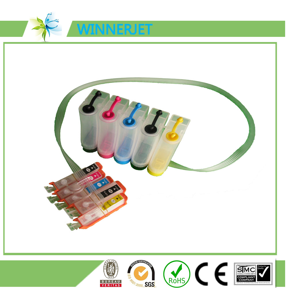 transparent diy ciss ink tank for canon PIXMA Mp980 printer for canon pgi-220 cli-221 pgi-320 cli-321 pgi-520 cli-521