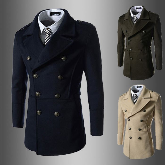 walson Whole Men's Dust Coat mens overcoat winter men's trench coat long trench coats