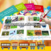 V500 English French Arabic Kids Reading Pen and Reading Bookls Kids gift 2014