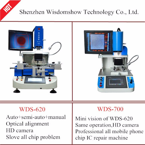 Auto vision rework system WDS-700 bga rework statiion can fix all kinds board mobile phone repair for ic replacement machine