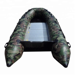 4 person 0.9mm camouflage pvc fishing sport boat Inflatable rubber boat