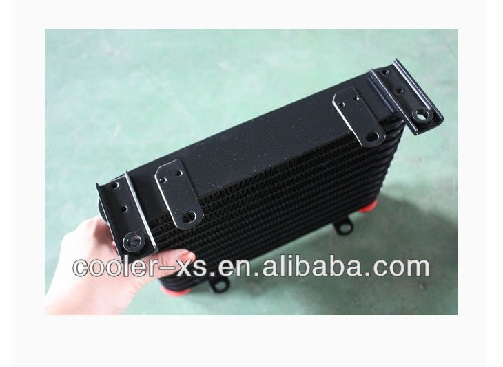 aluminum ,shell type ,hydraulic oil cooler for hydraulic system /motor cycle