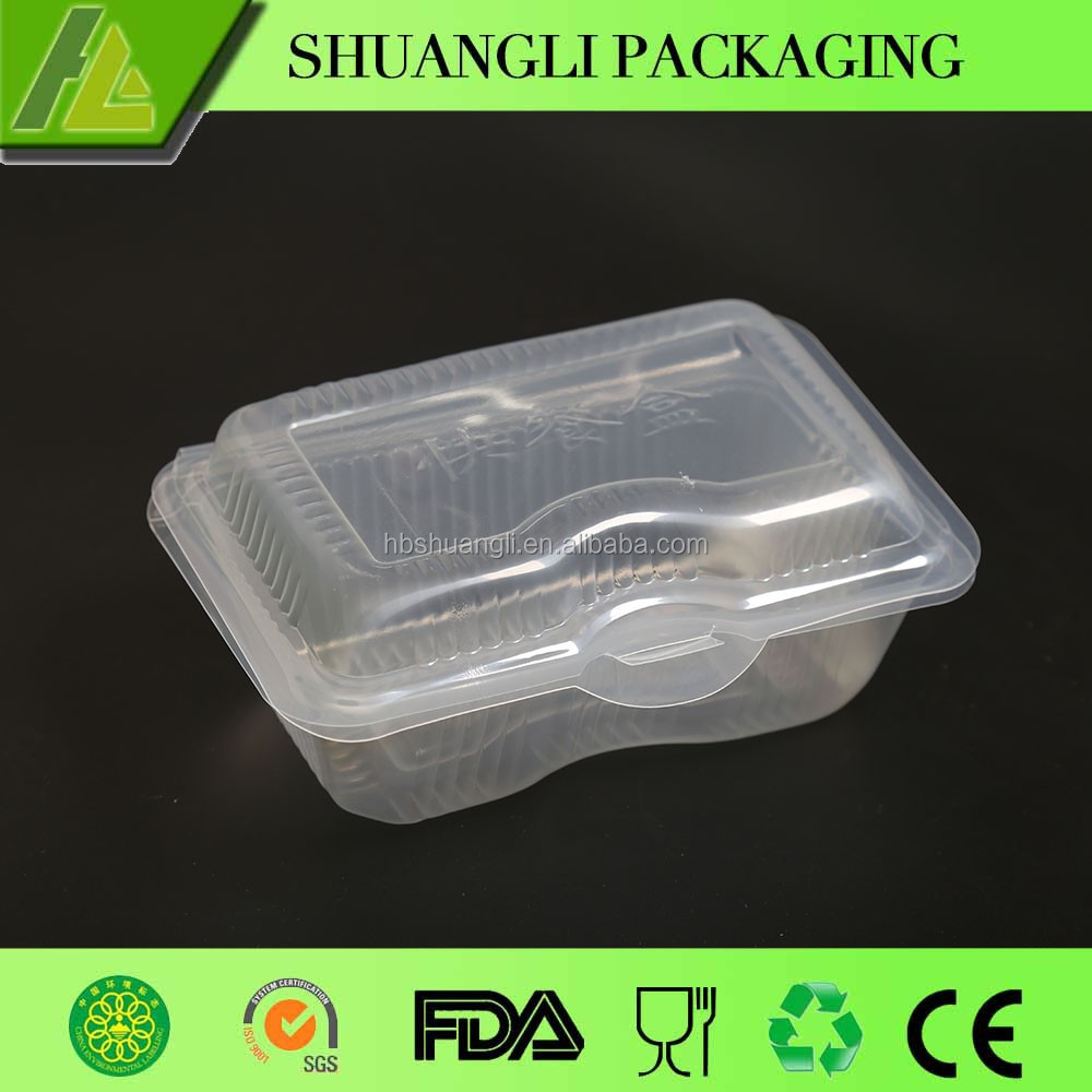PP Plastic Fast Food Prep Box Microwave Safe