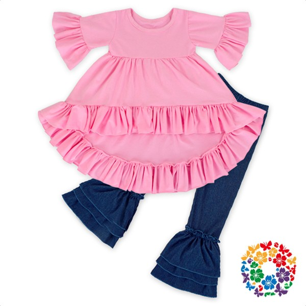 Hot Sale Kids Girls 3 Pcs Clothes Set With Scarf Toddlers Valentines Outfits Wholesale Baby Valentines Day Girl Heart Outfit