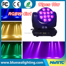 Wholesale night club light dmx 12x10w rgbw 4in1 led moving head beam