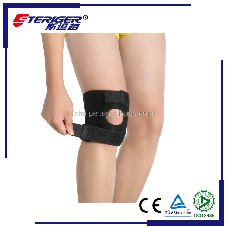 neoprene Material knee support with open patella