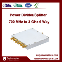 Power Divider/Splitter 700 MHz to 3 GHz 6 Way