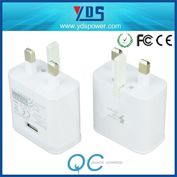 alibaba made in china quick charging ac wall charger for usb cables with UK plug