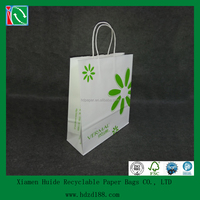 2015 kraft boutique shopping bags with handle