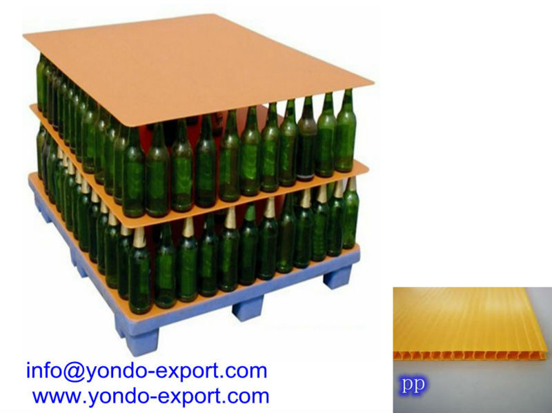 Plastic tier sheet/Corrugated plastic layer pads/ bottle pallet