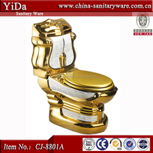gold toilet commode, china chaozhou toilet wc price,