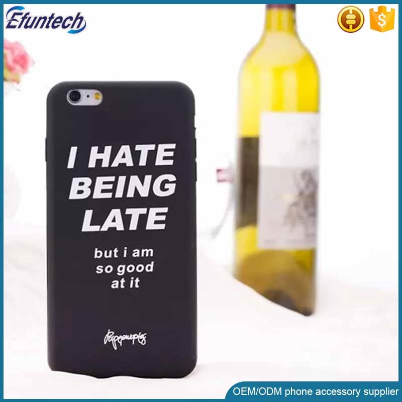 China factory OEM customized words printed 3D silicone phone case for iphone 6s