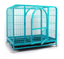 heavy duty steel square tube dog crate for large dogs