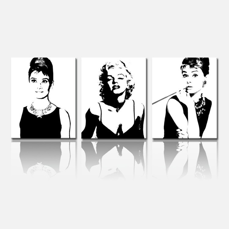 Framed and Ready Wall Hang, Forever Audrey Hepburn and Marilyn Monroe Paintings,wall Display ART
