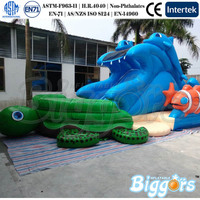 Hot Sale Ocean Theme Giant Inflatable Water Slide With Pool