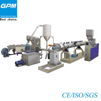High output capacity double-stage granulator extrusion line