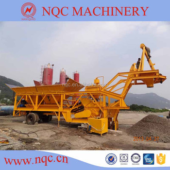 YHZS-25 mobile concrete batching plant seller (25m3/h)