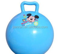 PVC inflatable playground ball with handles Mickey sticker