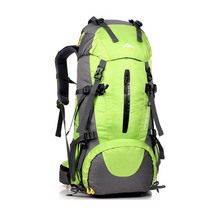 Custom logo 50l wholesale fashion camping pro sport hiking backpack with rain cover