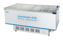 -18 Celsius chest freezer with glass sliding door