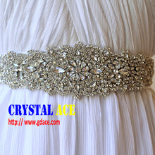 Crystal rhinestone applique patch for wedding dress and iron on applique patch