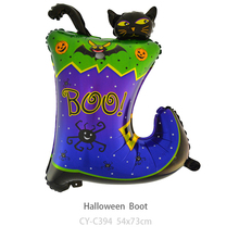 CYmylar Halloween party decoration balloon foil Boot cat pumpkin hat balloons