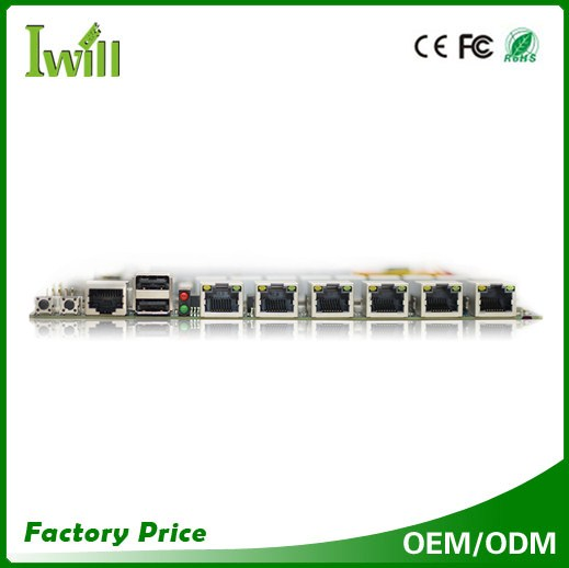 Firewall board YL-1037L6 mini-itx motherboard for 6 lan