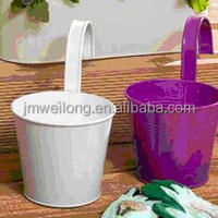 Colorful Hanging Commercial Planters Pots