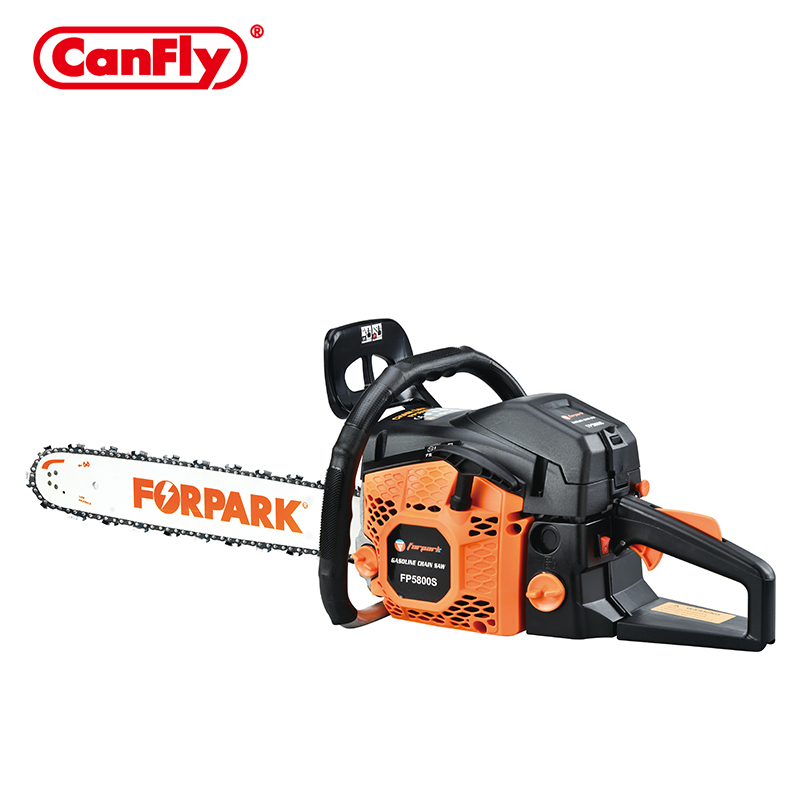 FORPARK Hot sell economics quality gas power 5800 58cc green cut chainsaw