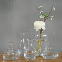 Wholesale Hand blown clear Glass Vases