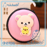 Cute rabbit animal shaped leather coin purse China Supplier