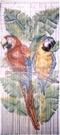 Bamboo Curtain, beaded door curtain painted by hand, bird style