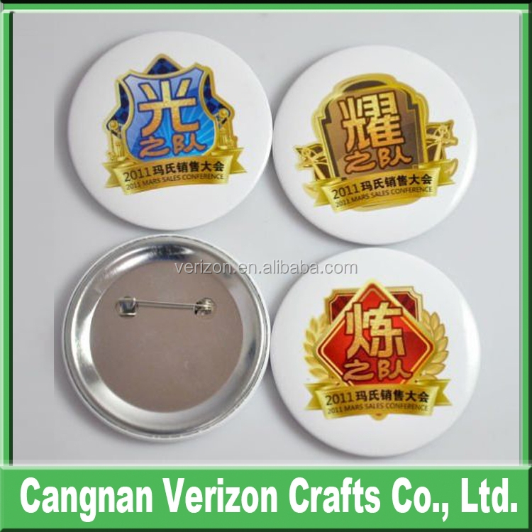 Custom Promotional advertisement Gift Printing Metal Tinplate Round Pin Button Badge