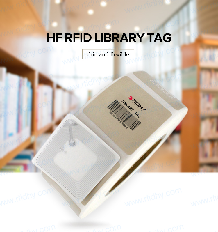Excellent Performance Rapid check-out/check-in 13.56 MHz RFID Library Tag